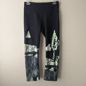 Under armour m mixed media cropped black leggings